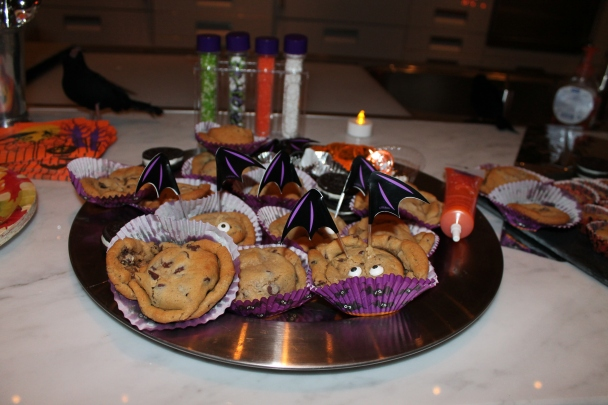 a make your own cookie bar came from JoAnn Fabric, Pillsbury and Oreo Cookies- plus some faux lights from the Dollar Tree